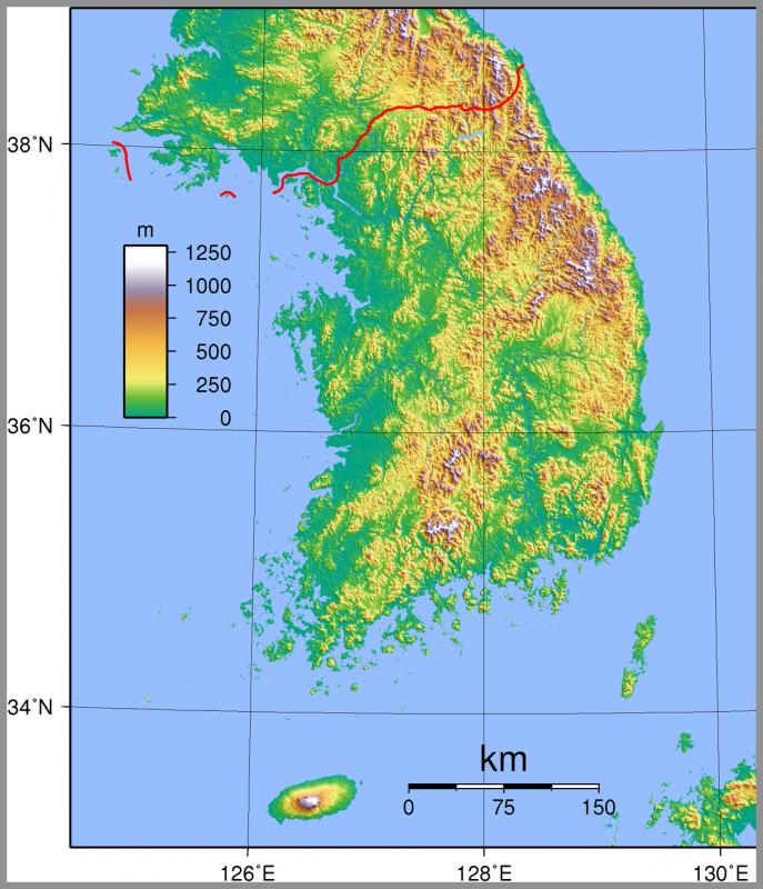 Geografi Korea Selatan