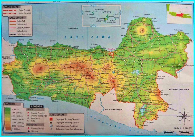 Peta Atlas Jawa Tengah