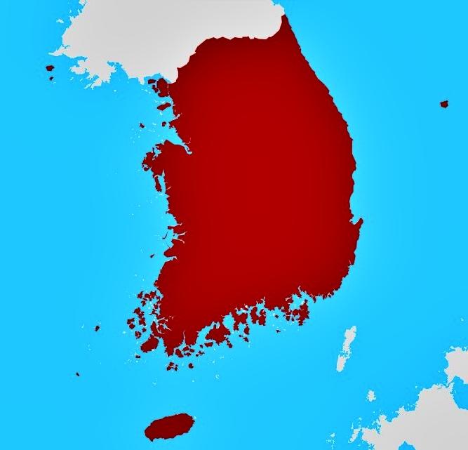 Peta Buta Korea Selatan