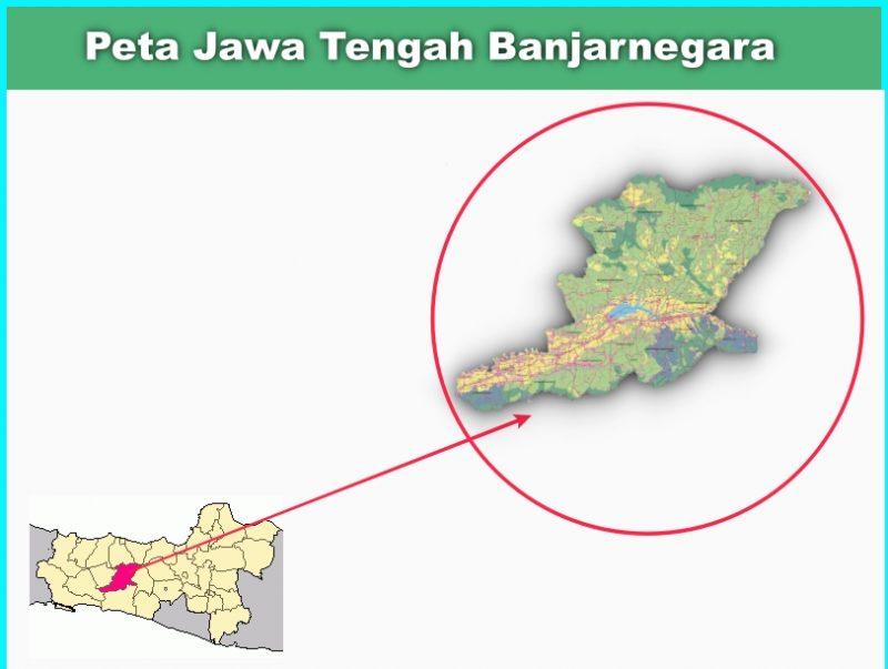 Peta Jawa Tengah Banjarnegara