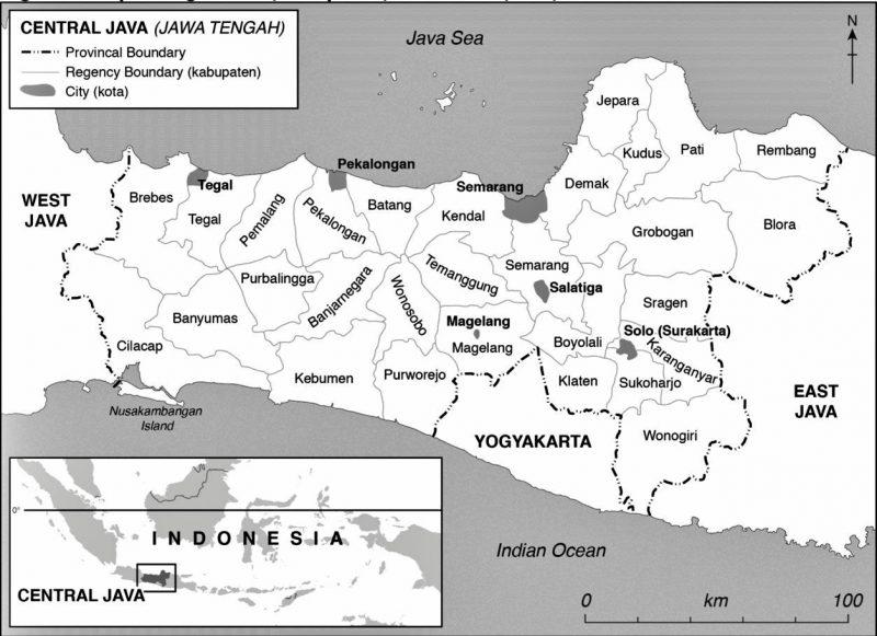 Peta Jawa Tengah Hitam Putih