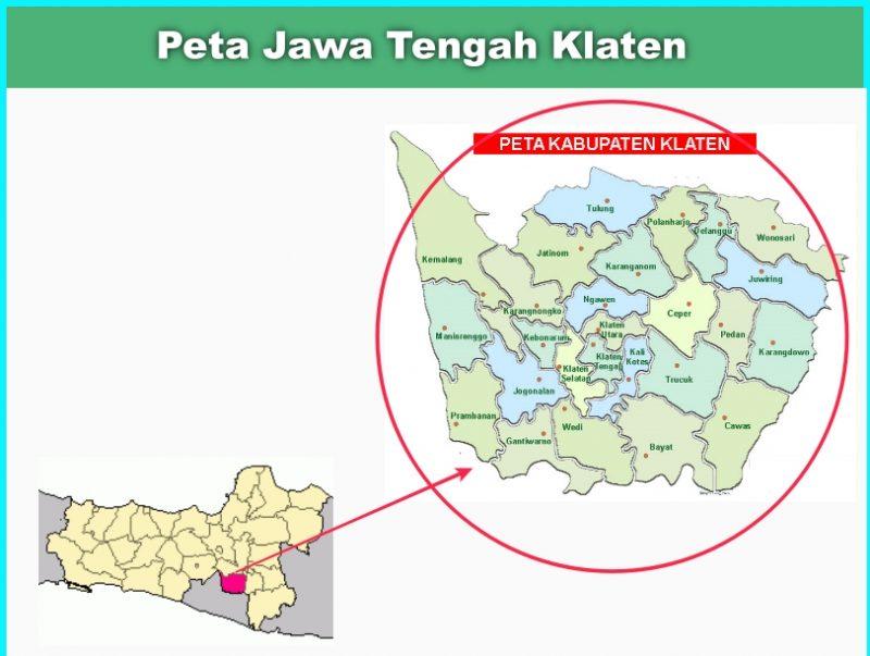 Peta Jawa Tengah Klaten