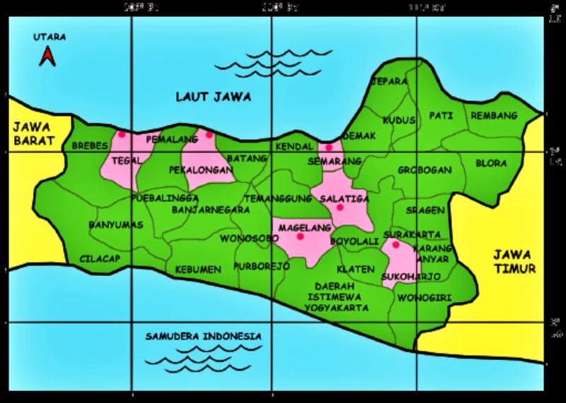 Peta Jawa Tengah PNG