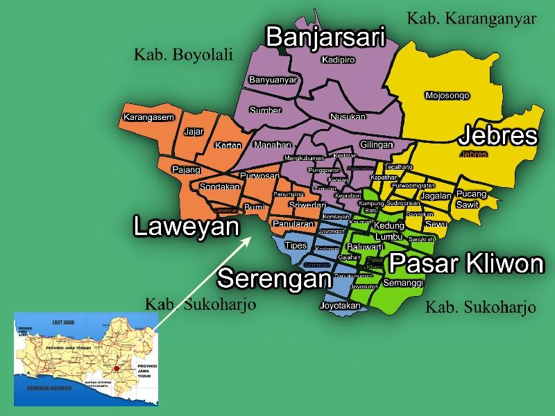 Peta Jawa Tengah Solo