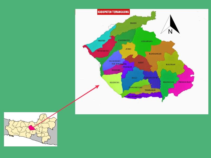 Peta Jawa Tengah Temanggung