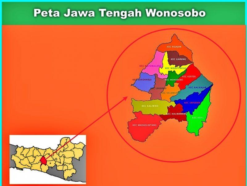 Peta Jawa Tengah Wonosobo