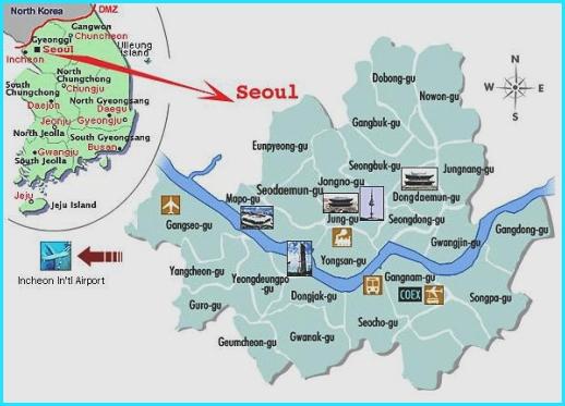 Peta Korea Selatan Seoul