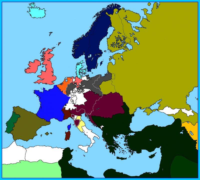 peta buta Eropa