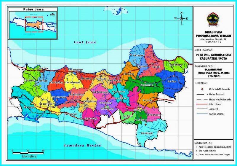 peta provinsi Jawa Tengah