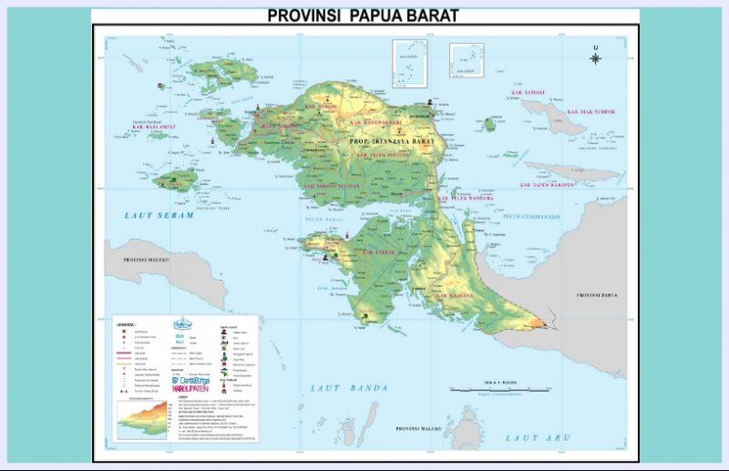 peta papua barat