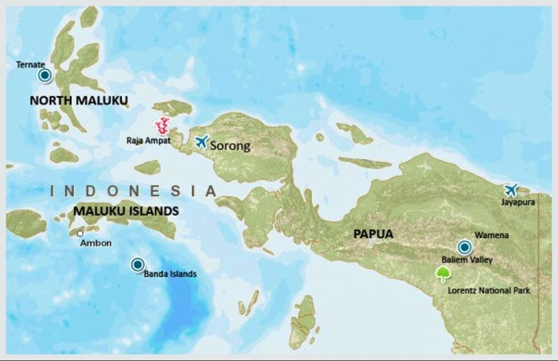 peta papua dan maluku