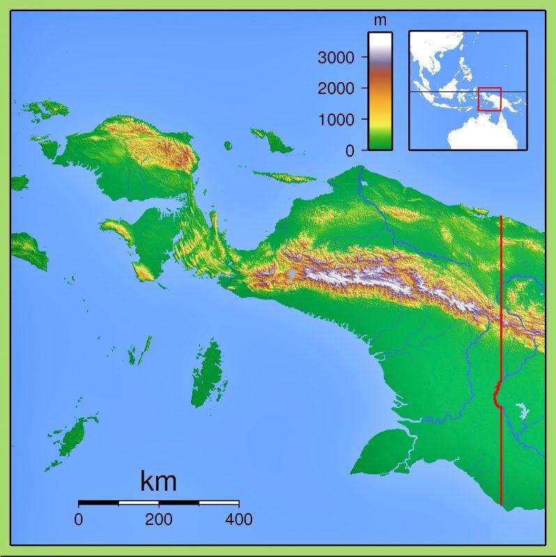 Peta Papua Ukuran Besar