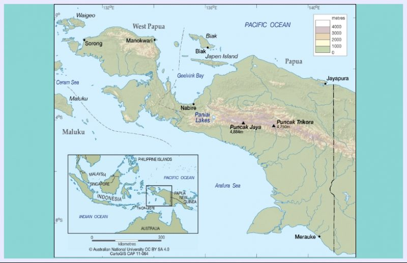 peta papua indonesia