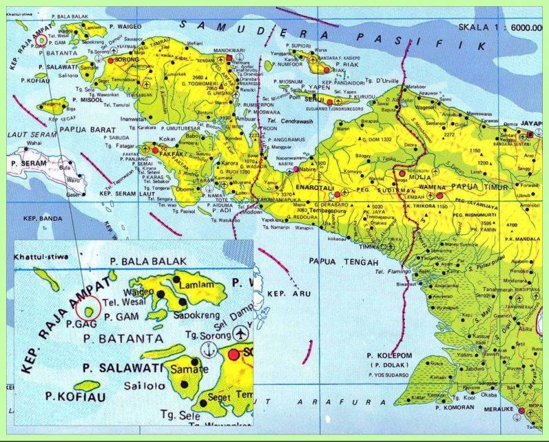 peta papua lengkap