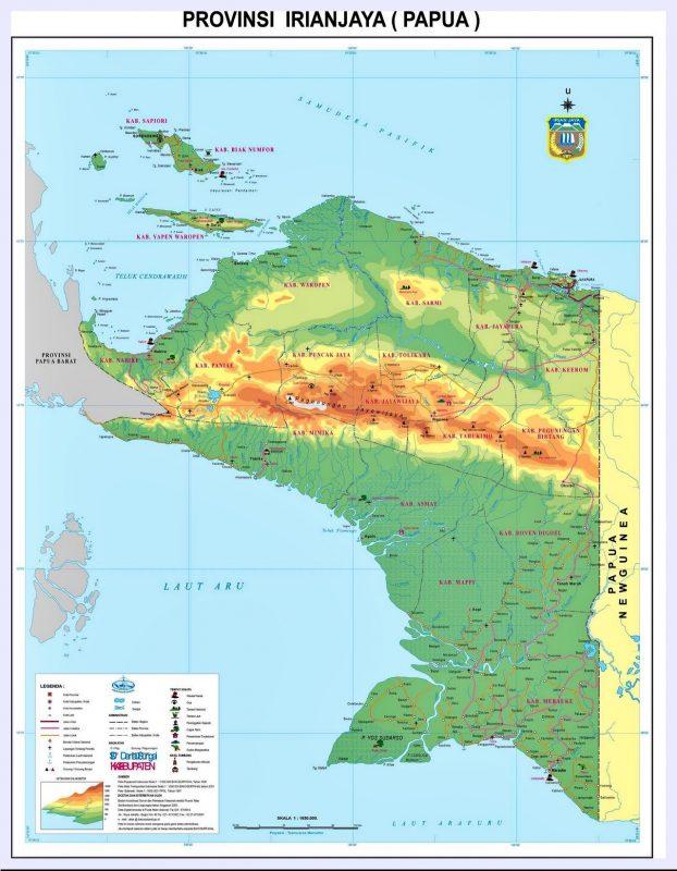 peta provinsi Papua