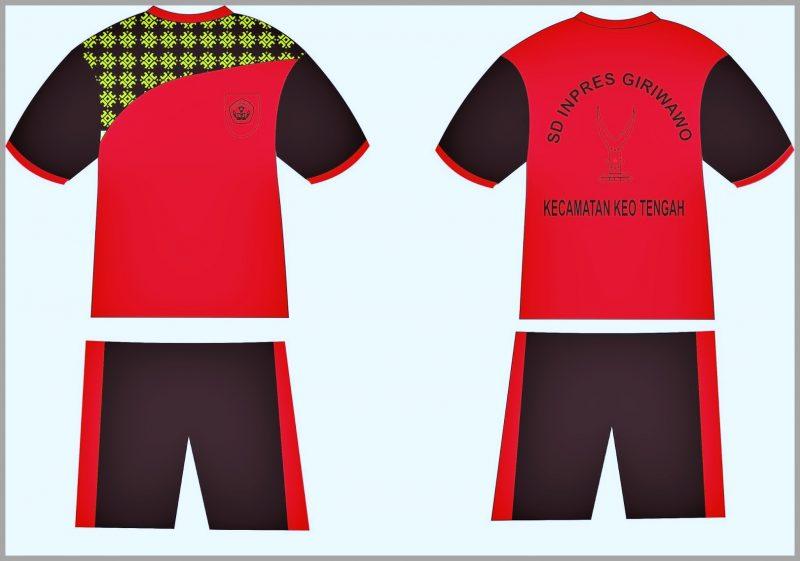 Desain Kaos Olahraga Sekolah