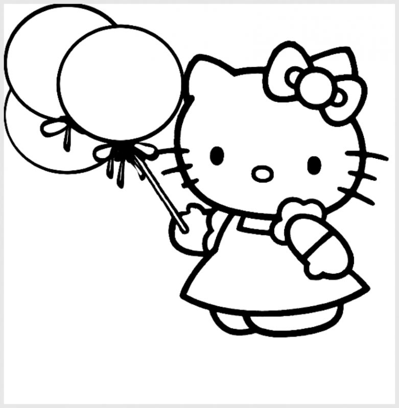Hello Kitty dan Balon