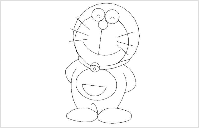 Sketsa Doraemon Mudah