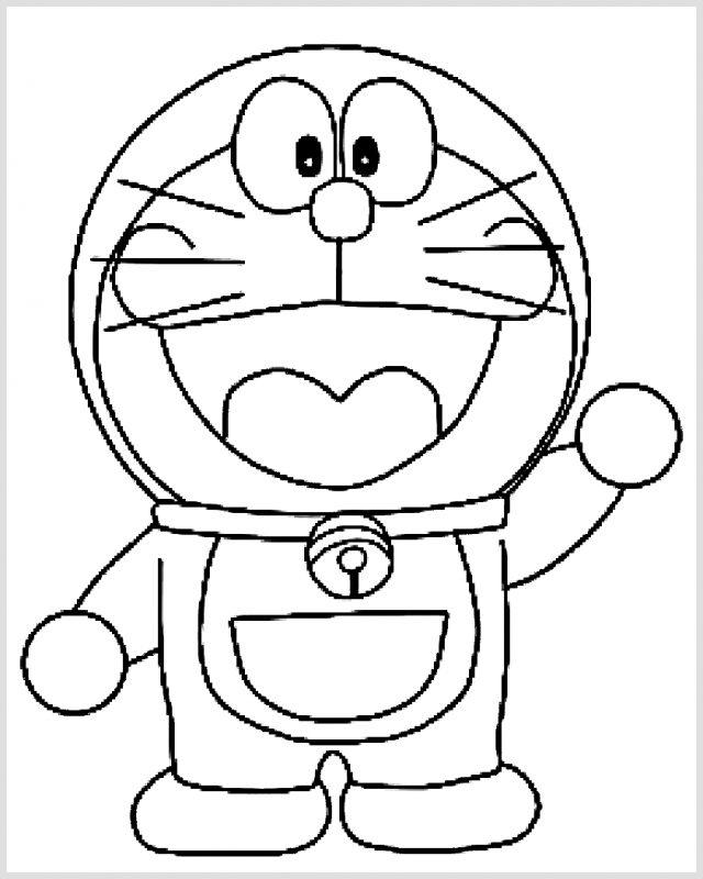 Sketsa Doraemon Mudah, gambar doraemon simpel