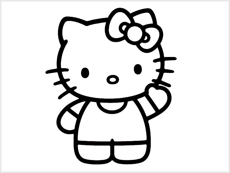 Sketsa Hello Kitty Mudah