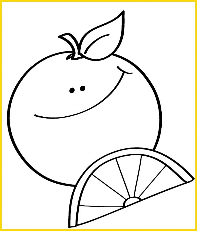 gambar sketsa buah jeruk