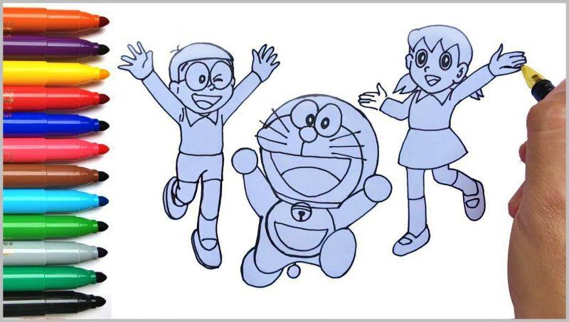 sketsa Doraemon, Nobita dan Sizuka
