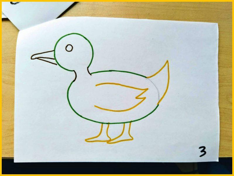 sketsa bebek berwarna