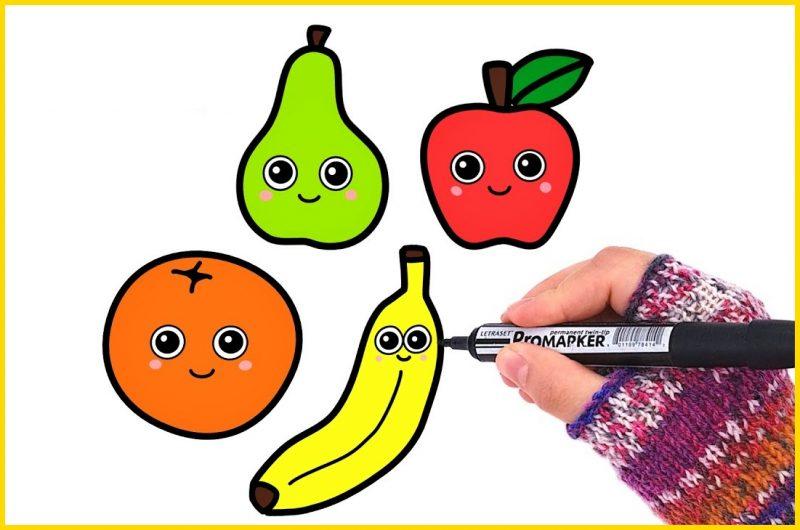 sketsa buah