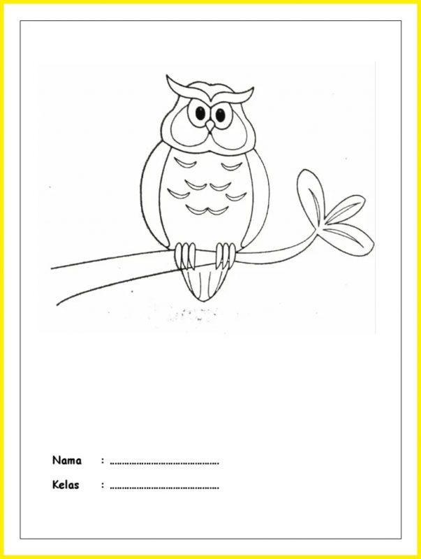 sketsa gambar burung hantu2