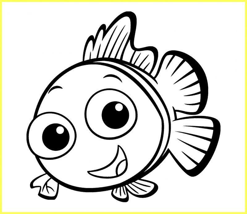 sketsa ikan nemo