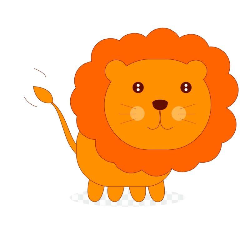 Gambar Singa Komik