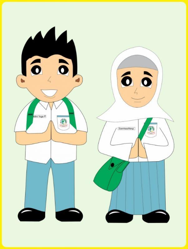 Ilustrasi Anak Sekolah Madrasah Aliyah