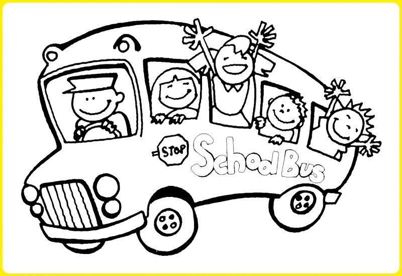 Mewarnai Bus Sekolah