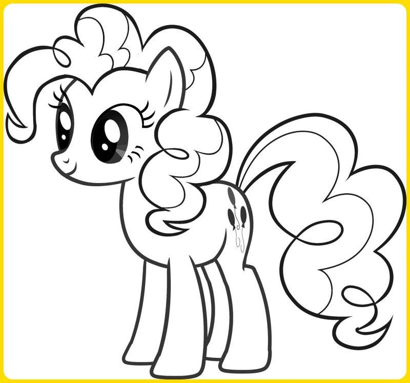 Sketsa Gambar Kartun My Little Pony