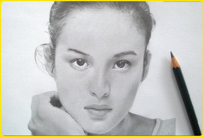contoh gambar sketsa wajah