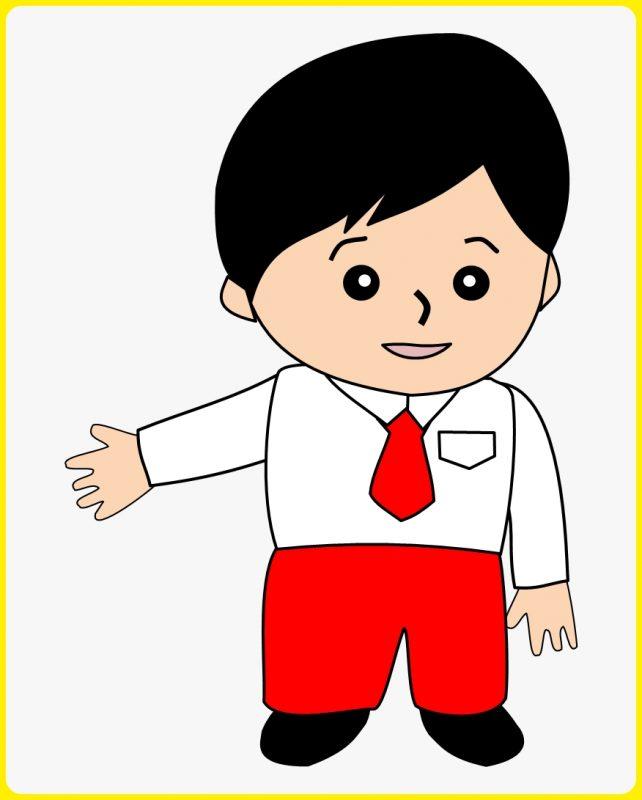 gambar anak sekolah kartun png