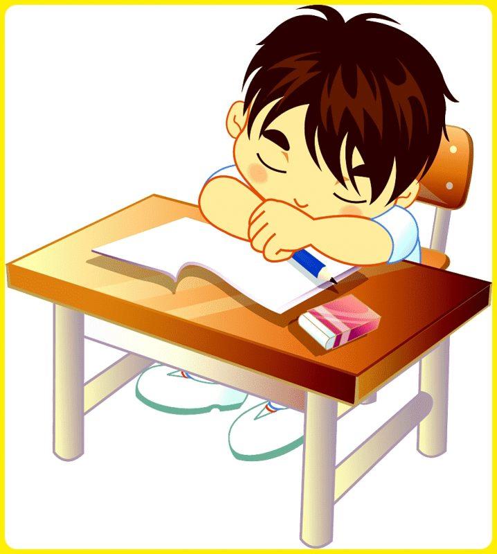 gambar anak sekolah ketiduran di kelas