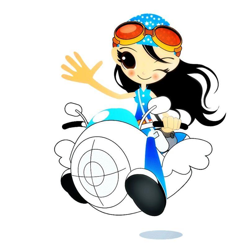 gambar gadis keren naik motor