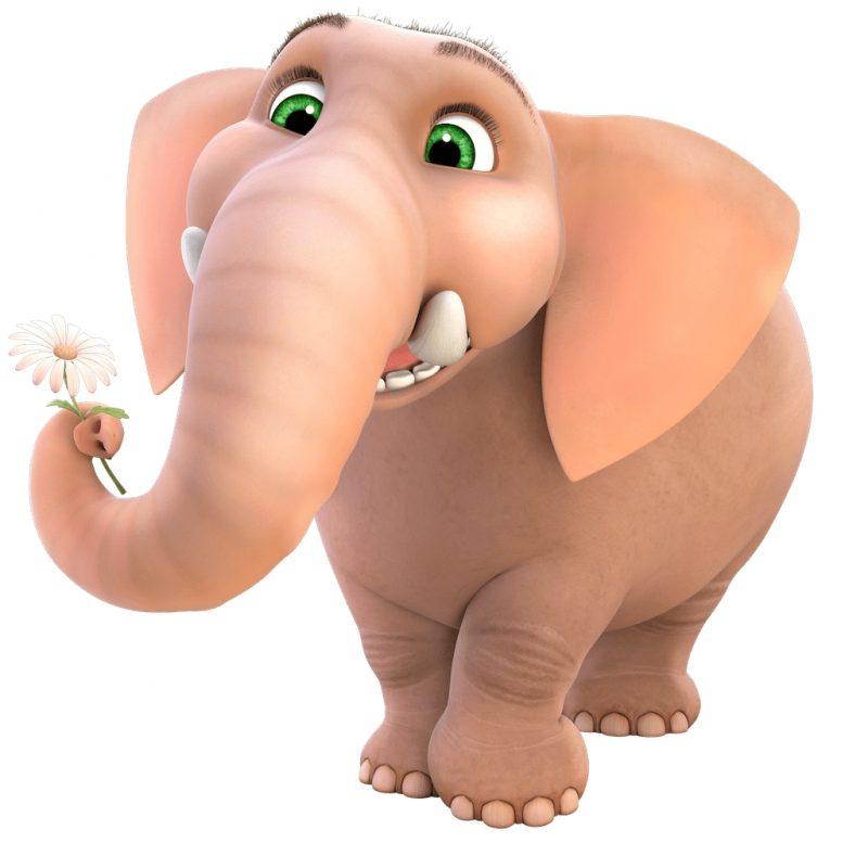 gambar gajah animasi