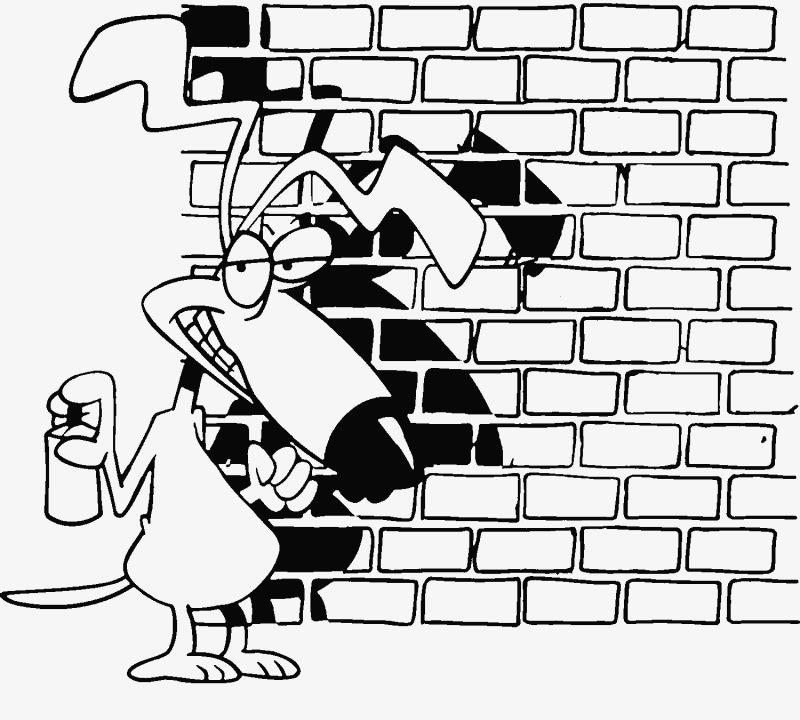 gambar hewan corat coret tembok
