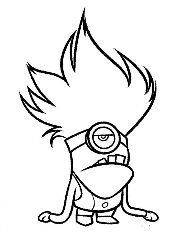 gambar kartun keren hitam putih simple