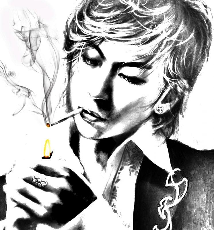 gambar kartun keren merokok