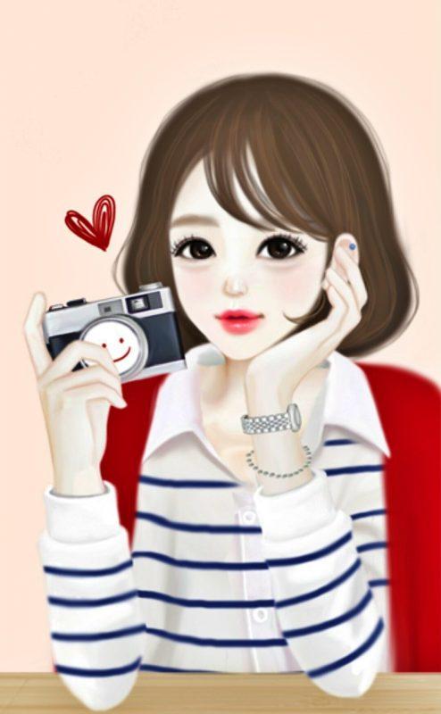 gambar kartun keren perempuan