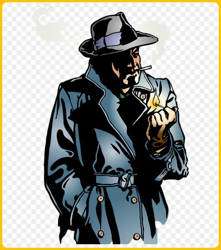 gambar kartun keren perokok misterius