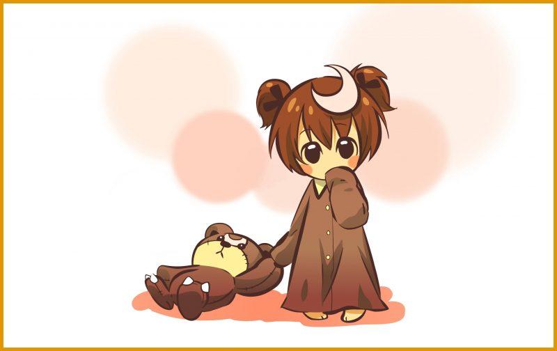 gambar kartun lucu bersama bonekanya
