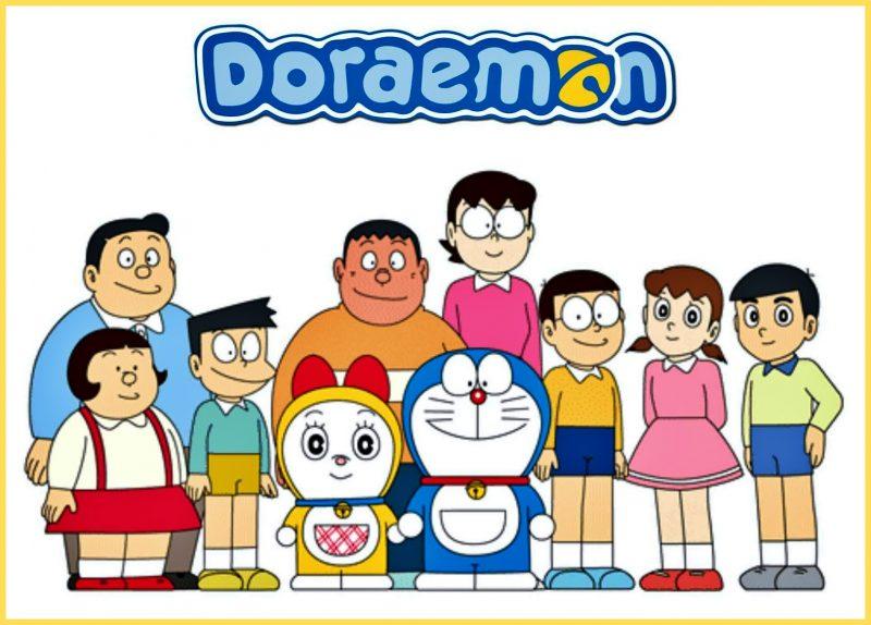 gambar kartun lucu doraemon dan kawan kawan