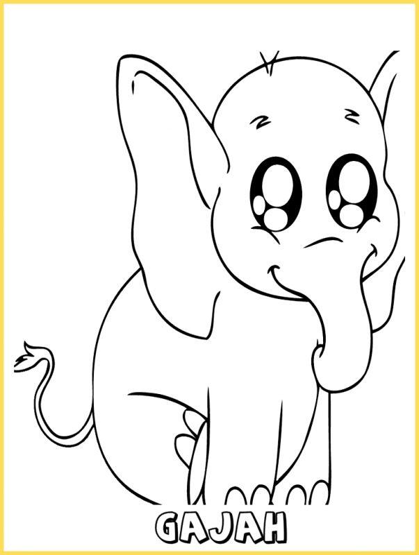 gambar kartun lucu gajah imut