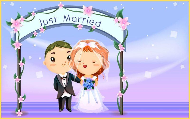 gambar kartun lucu pasangan pengantin