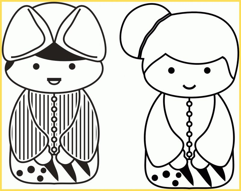 gambar kartun lucu sepasang kartun jawa