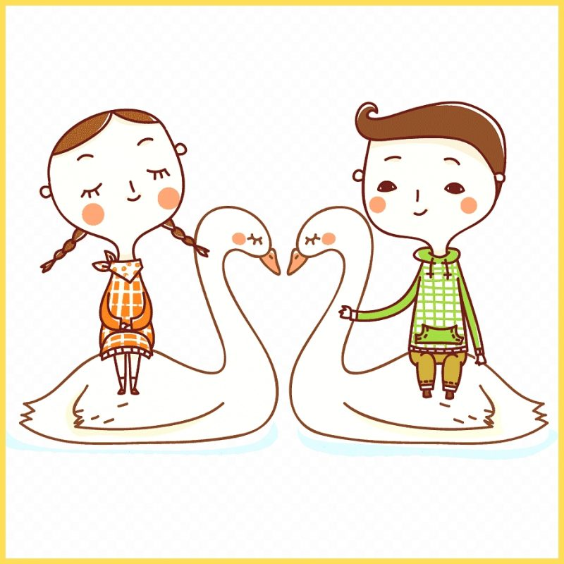 gambar kartun lucu sepasang remaja
